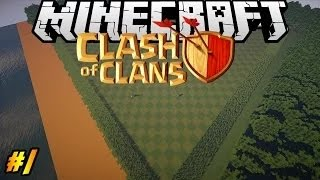 Let's Build Clash of Clans in Minecraft PART 1| Landscape
