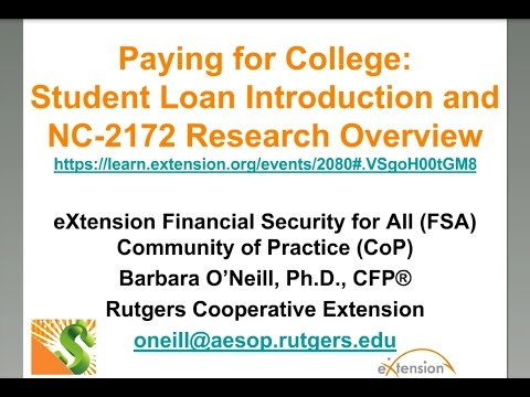 Paying for College – Learn about the Federal Student Aid Toolkit and Other Student Loan Resources