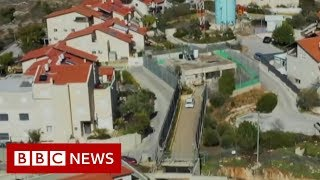 The Palestinian family with its own checkpoint - BBC News