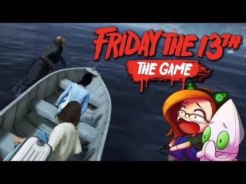 Friday The 13th: The Game - JASON vs. THE BOAT ESCAPE (Jason: Manly) ~Counselor Gameplay~