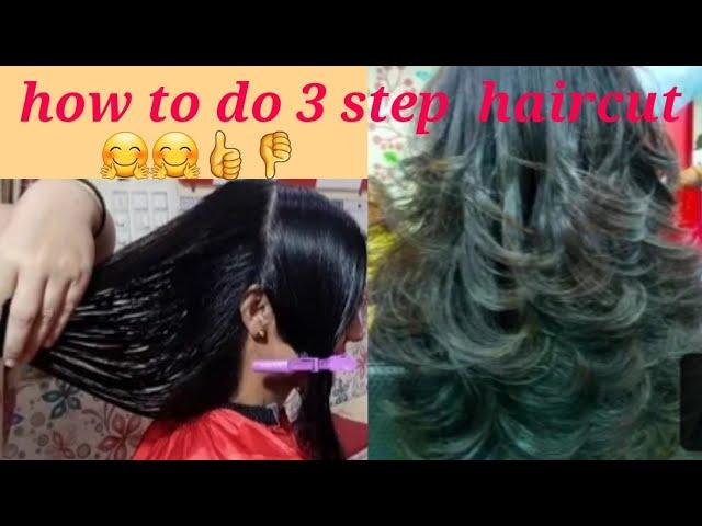 3 Step Haircut For Medium Hairs Step By Step Youtube
