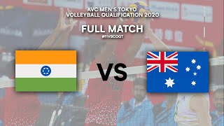 IND vs. AUS - Full Match | AVC Men's Tokyo Volleyball Qualification 2020