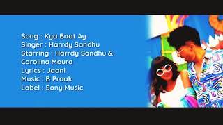 Kya Baat Ay | Harrdy Sandhu | Karaoke With Lyrics