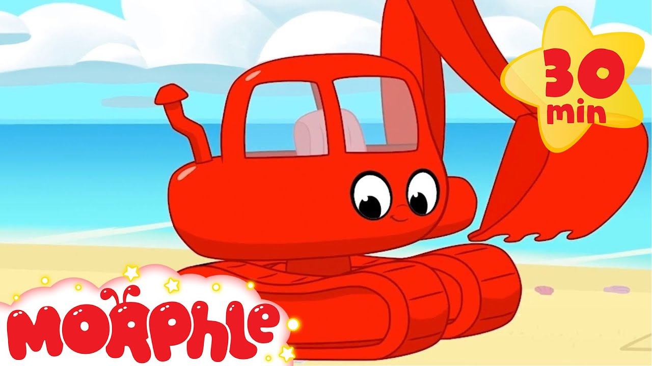 My Red Excavator - My Magic Pet Morphle | Kids Cartoon | Construction Vehicles for Kids | Morphle TV