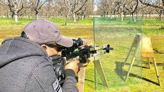 Crossbow vs bulletproof Glass