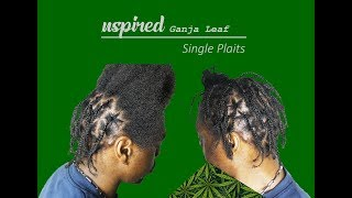 Inspired Ganja Leaf Single PLAITS. Natural Leaf BRAND!