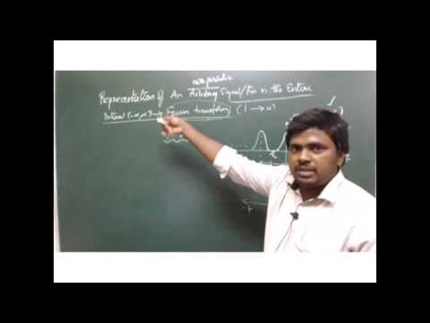 Representation of non periodic signals in frequency domain for UPSC Electrical Engineering Optinal