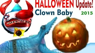 Hungry Shark evolution HALLOWEEN Update 2015, Pumpkins, Clown baby