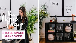 Awkward Small Space Gets A Major Makeover On A Budget | The Home Primp