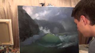How to draw sea waves. Sea storm. The best lesson.