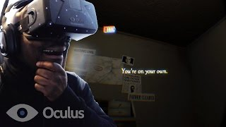Oculus Rift DK2 Virtual Reality - QJB Screams Like Girl! TOO SCARY @oculus (A Chair In A Room)