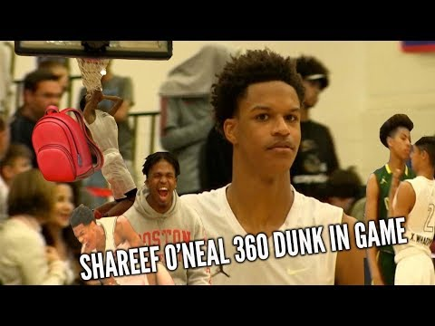 SHAREEF O'NEAL 360 DUNK HYPES Up Crowd In PLAYOFF Win..Decommited From Arizona The Very Next Day