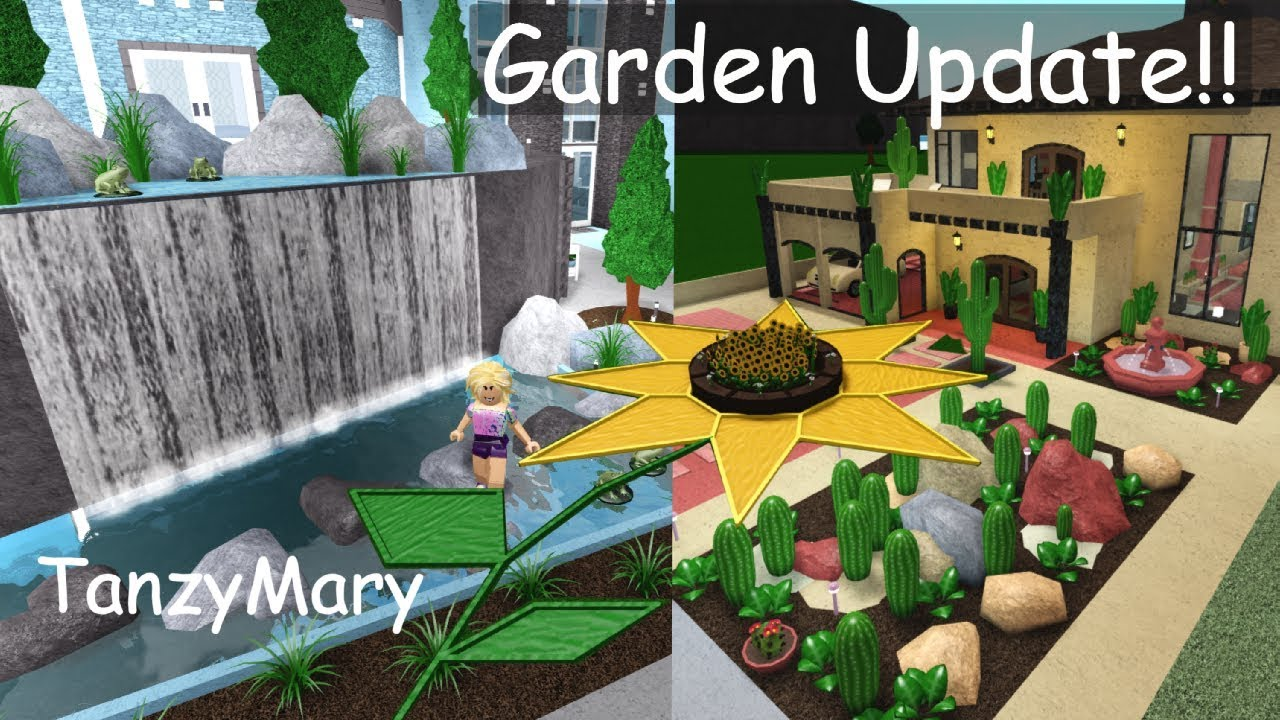 Bloxburg Garden Update Design Ideas & Hacks Speedbuild 6