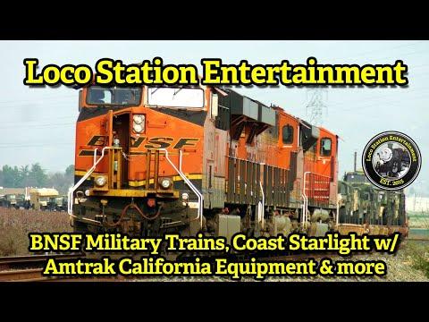 January 2018 - BNSF Military Trains, Coast Starlight w/ Amtrak California Equipment & more