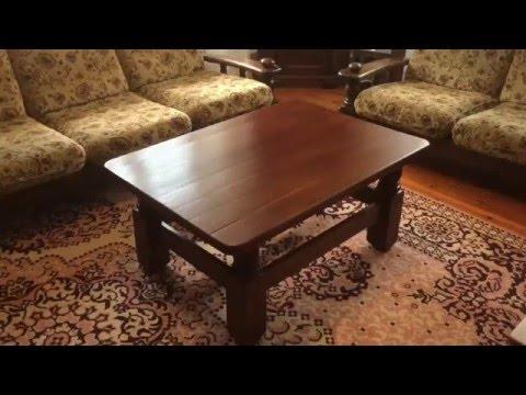 Журнальный столик массив .Трещина на крышке(Practical advices of furniture- maker). смотреть онлайн