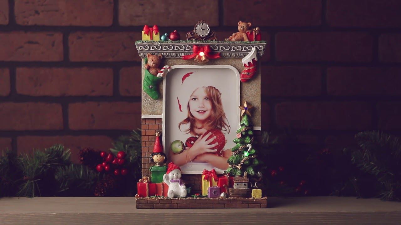 Light Up Christmas Picture Frame For 5x7 Photo Youtube