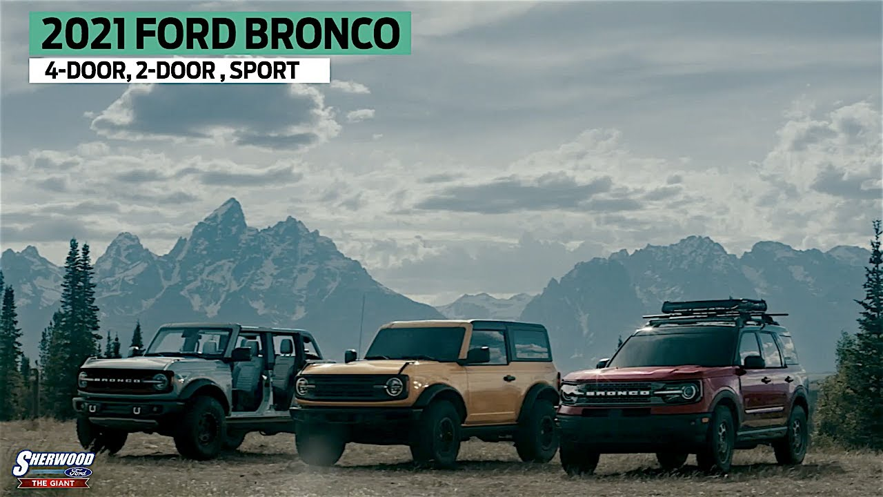 2021 Ford Bronco Two Door and Four Door - YouTube