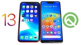 Android - iOS 13 vs Android Q!