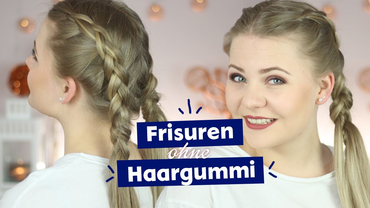 Frisuren Ohne Haargummi Spangen I Dominokati Youtube