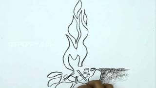 How to Draw a Camp Fire