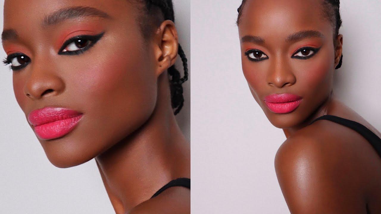 Summer Neon Lips Makeup | Hung Vanngo