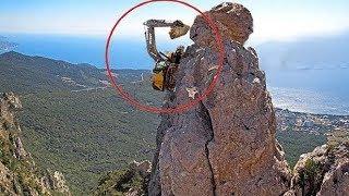 World's Dangerous Idiots Excavator Heavy Equipment Operator - Fastest Climbing Excavator Driving