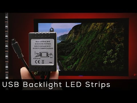 USB Powered LED Strips for back-lighting your TV or Monitor