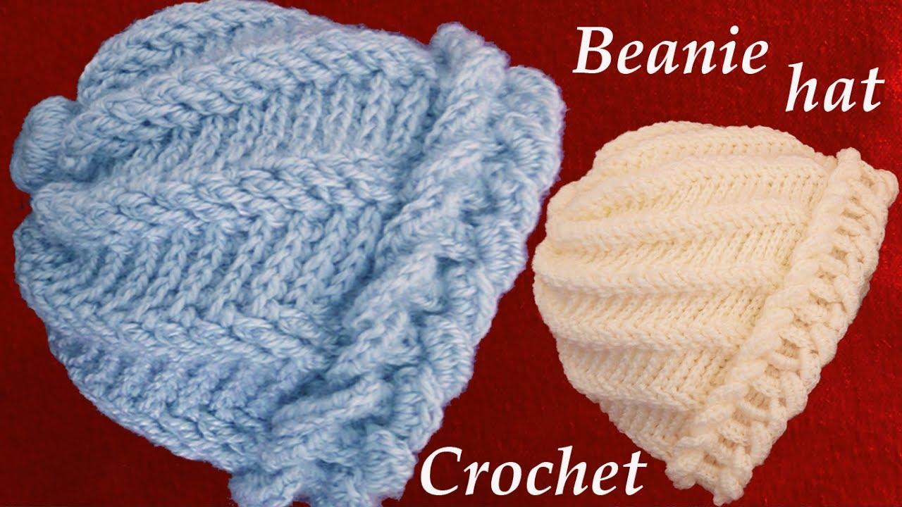 19d83f52c9c6a aprende hacer un gorro tejido con Gancho Crochet de argollas gruesas ...