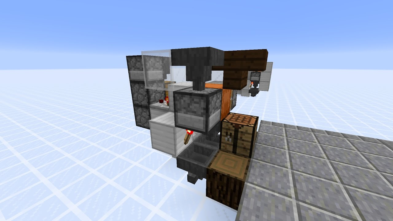 Compact Shulker Box Mass Crafting System