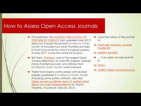 MOOC Science Controversies: Module 3c Controversial Journals