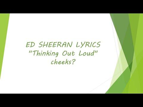 Ed Sheeran - Thinking Out Loud [Lyrics]