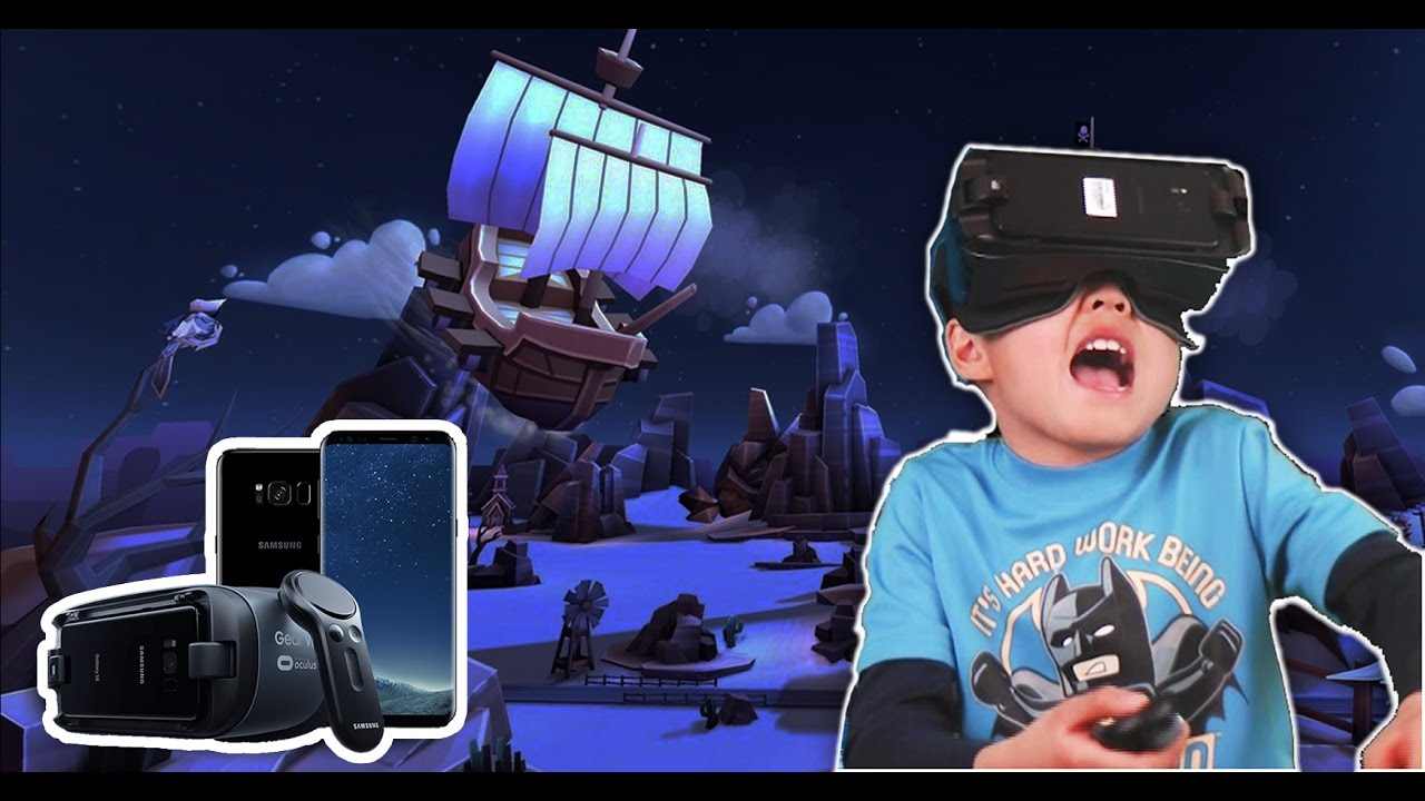 Kids Unbox Galaxy S8 And Play Virtual Reality For The -7777