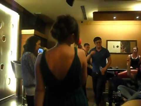 Xi'an - Jen and Charlotte Doing Karaoke
