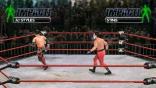 TNA Impact: Cross the line for PSP -Gameplay - Aj Styles vs Sting