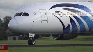 Egypt Air Boeing 787-9 Dreamliner (SU-GEW) Take Off At AMS 36L