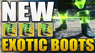 Destiny - *NEW* EXOTIC HUNTER BOOTS RADIANT DANCE MACHINES Gameplay + Stats (Destiny DLC)