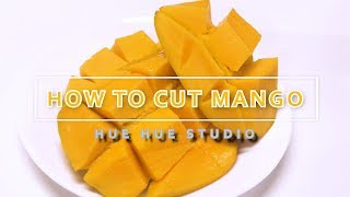 HOW TO CUT A MANGO AND GERMINATION  망고 자르는 법, 망고 키우기기