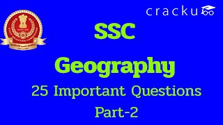 SSC GD Important Geography Questions | Part- 2