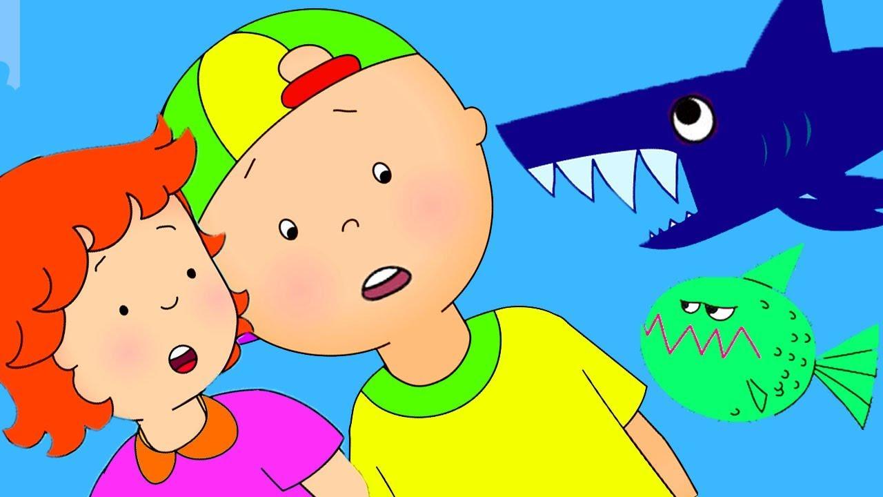 Caillou en fran ais caillou et le requin dessin anim dessin anim pour b b youtube - Dessin caillou ...