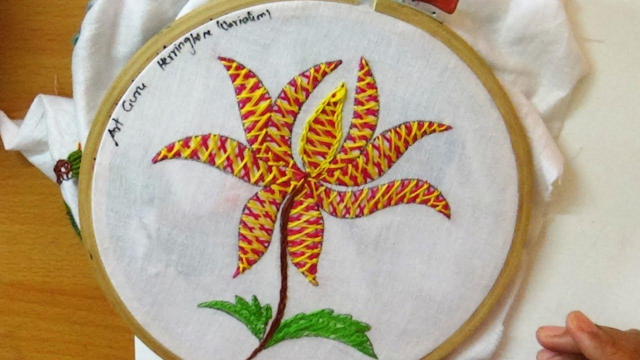 embroidery design stitching art herringbonevariation
