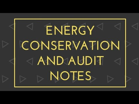 Energy Conservation and Audit Notes