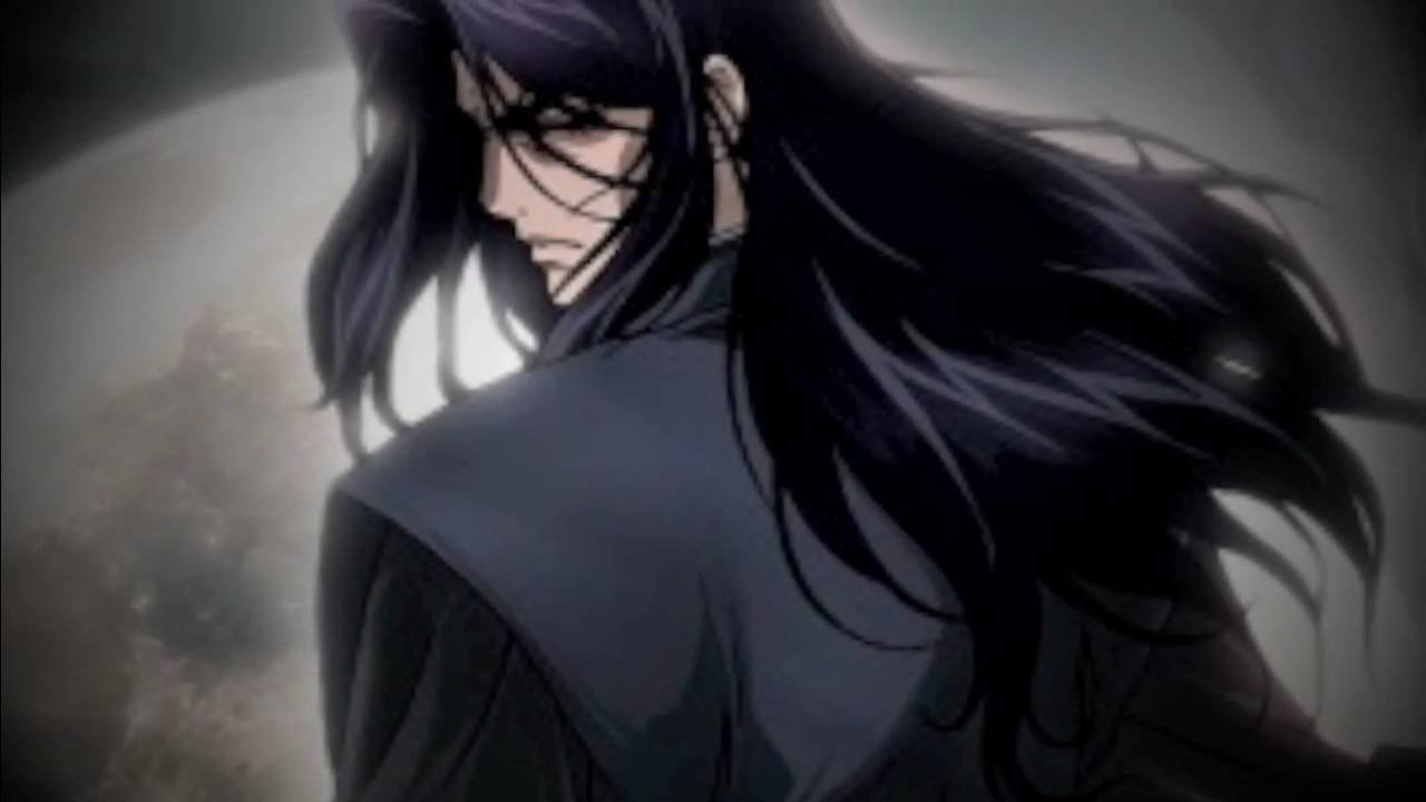 Sexy anime girl with black hair