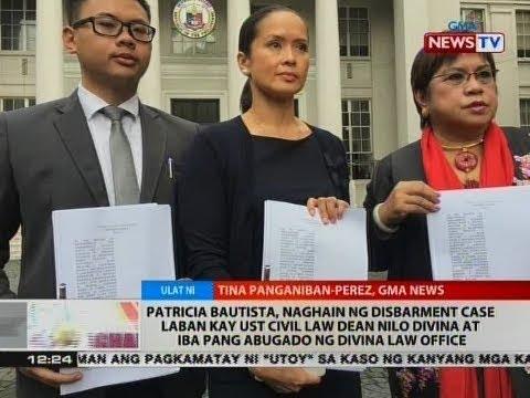 BT: Patricia Bautista, naghain ng disbarment case laban kay UST Civil Dean Nilo Divina at iba pa