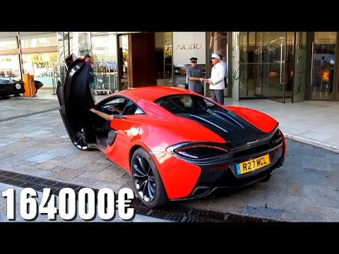 brand new mclaren 540c start up and acceleration! - youtube