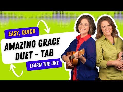 Amazing Grace Ukulele Duet and Fingerpicking - 21 Songs in 6 Days: Learn Ukulele the Easy Way