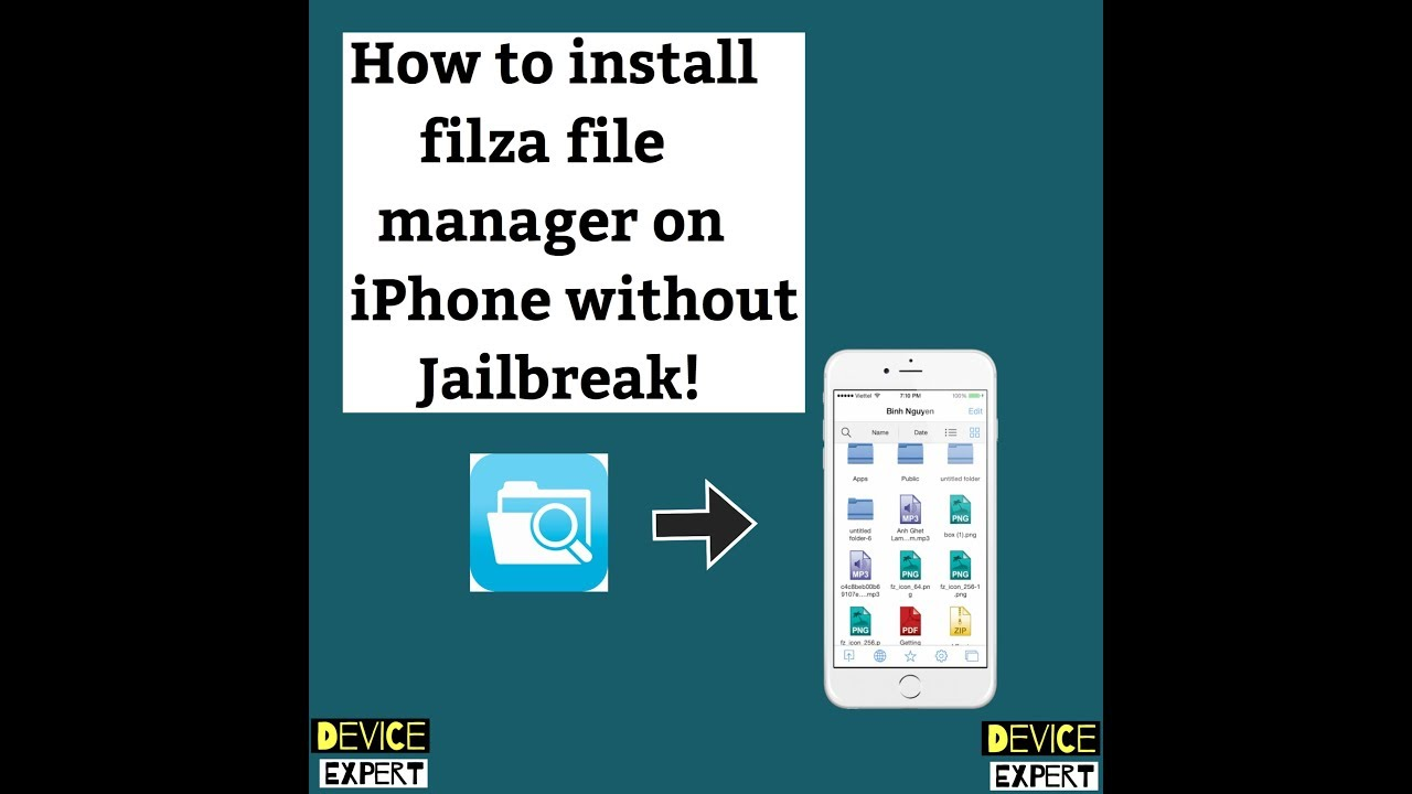 iOS 12/11 1 2/10/9 |How to install filza file manager free on iPhone  |Without jailbreak |