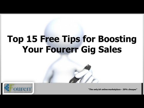 Top 15 Free Tips for Boosting Your Fourerr Micro Job Sales