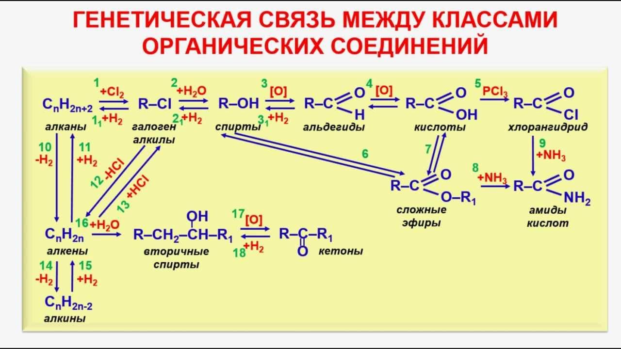 Схема генетической связи соединений