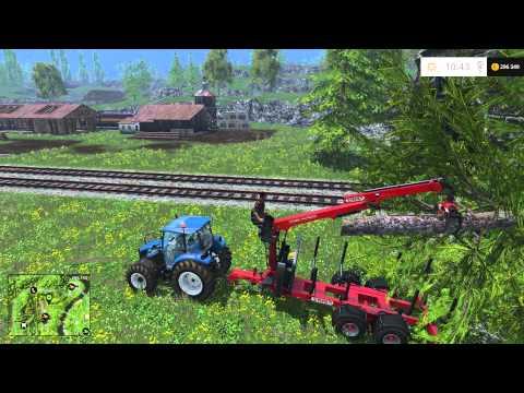 Как быстро заработать денег вырубкой леса в Farming Simulator 15(How To Earn Money)