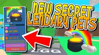 NEW SECRET LEGENDARY PETS AND CODES IN BUBBLEGUM SIMULATOR!! (Roblox)
